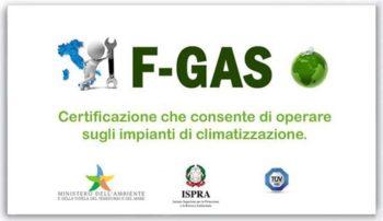 certificazione f gas