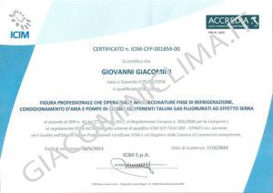 Certificato Giovanni